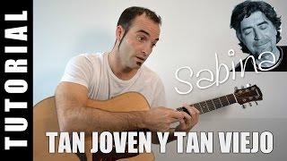 Como tocar Tan joven y tan viejo - J. Sabina - guitarra FACIL tutorial acordes Like a rolling stone