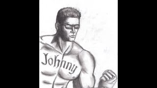 How to draw Johnny Cage Mortal Kombat
