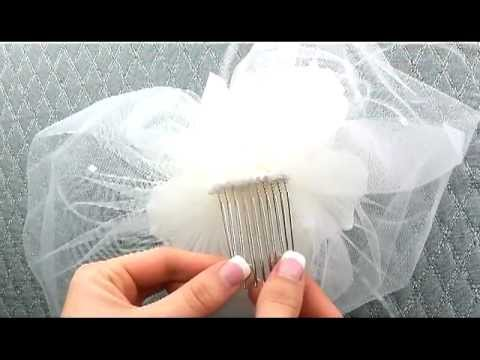 Vintage Inspired Flower And Bridal Veil By Hair Comes The Bride