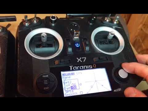 Taranis QX7 radio mix on demand hydraulic pump