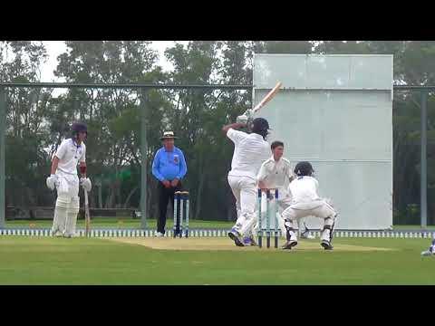 GPS Cricket - Nudgee Batting v Brisbane Grammar (March 2018)