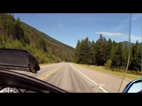 Riding my Goldwing on Highway 2, Glacier National Park