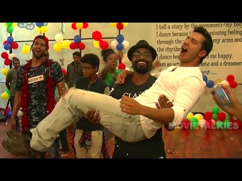 Varun Dhawan & Remo D'Souza With ABCD2 Cast At Happy Birthday Song Celebration Party