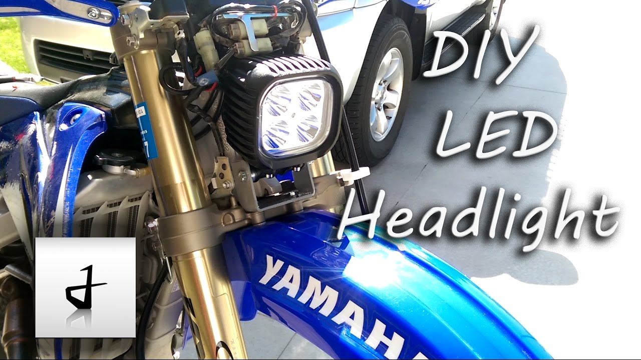 diy led dirtbike headlight [ 1280 x 720 Pixel ]