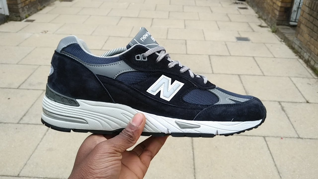 44180b9294121 New Balance 991 'Navy' Review & On Feet (Filmed On BlackBerry KEYone ...