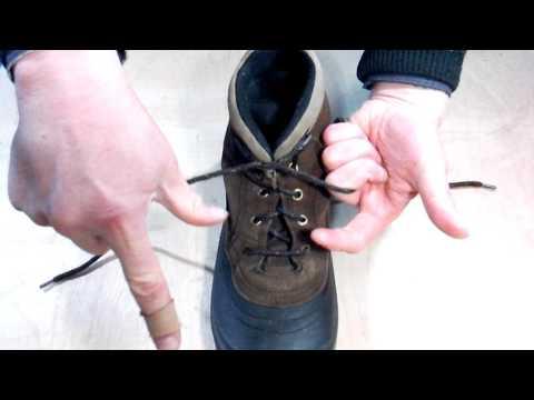 Быстрый способ завязать шнурки.