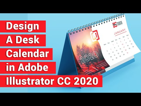 How To Create A Calendar Design In Adobe Illustrator Cc | Printable Desk  Calendar  Design 2020