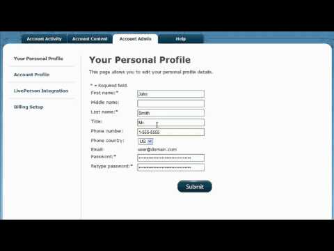 Set Up Personal Profile - VeriShow For LivePerson Help Video