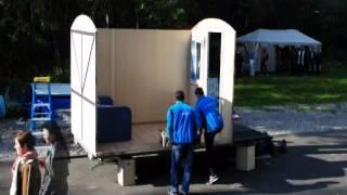 Автодома и жилые прицепы(Сборка мобильного дома в кемпинге