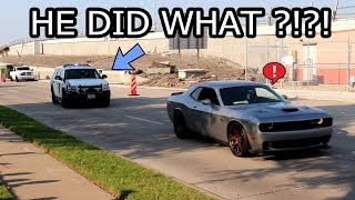 COPS CRASH CARS & COFFEE DALLAS AUGUST ( CARS DGAF!! )