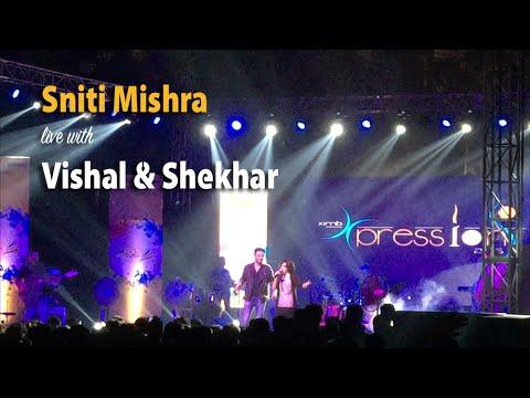 Sniti with Vishal-Shekhar live at XIMB, BBSR