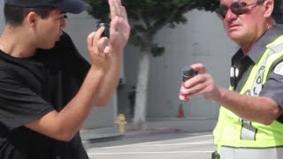 FARTING ON COPS PRANK!!