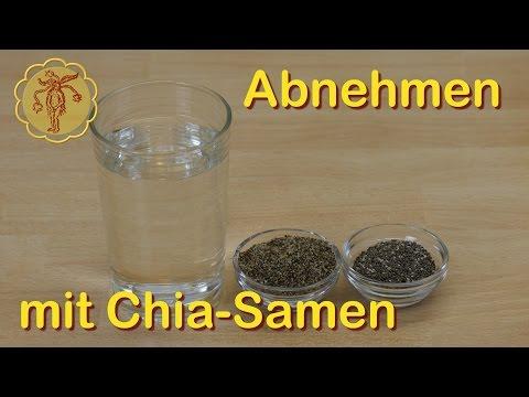Zitronenwasser mit Chia zum Abnehmen