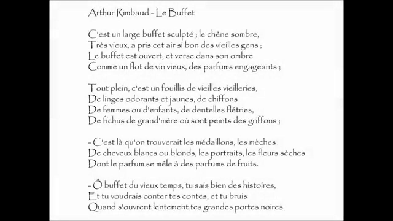 Rimbaud Le Buffet Cest Un Large Buffet Audiothèque