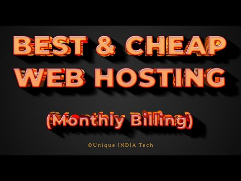 best-cheap-web-hosting-2020-(monthly-billing)-||-unique-india-tech