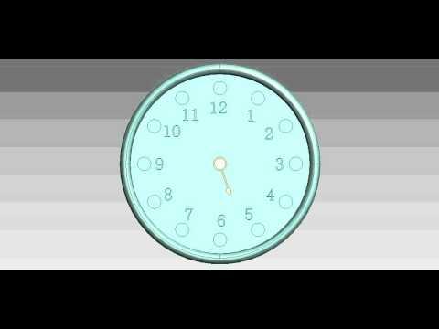 ตัวอย่างชิ้นงานจากprodesktop (นาฬิกา)