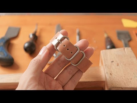 Making a Slip-thru Watch Strap from Natural Cordovan Leather