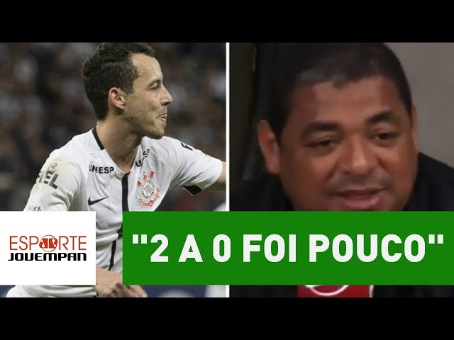"""""""2 a 0 foi pouco"""", diz Vampeta sobre vitória do Timão em MG"""