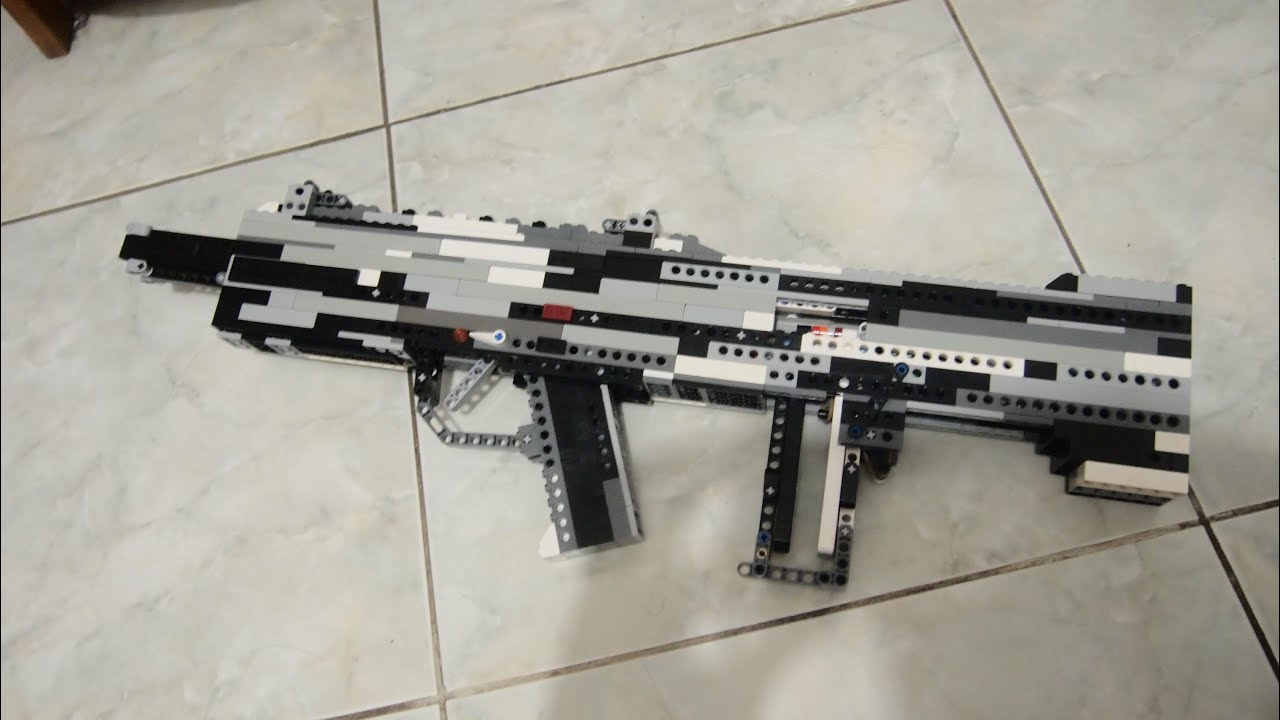 Lego Custom Bull Pup Assault Rifle Working Instructions