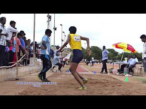 GIRL'S U16  LONG  JUMP  FINAL. 32nd  TAMIL NADU   JUNIOR ATHLETIC CHAMPIONSHIPS -2017
