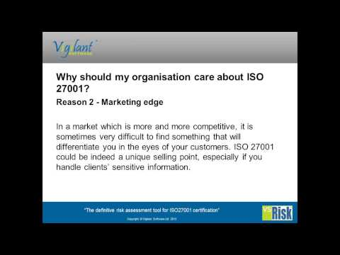 Why ISO 27001 for my Organisation?