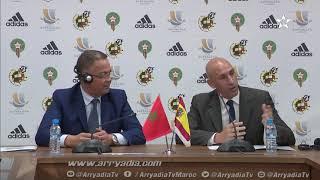 #كأس_السوبر_الإسباني عقدا رئيس الجامعة الملكية المغربية لكرة القدم السيد فوزي لقجع