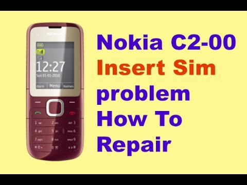 nokia c2 00 insert sim error how to fix it youtube. Black Bedroom Furniture Sets. Home Design Ideas