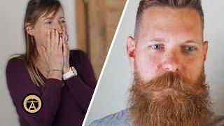 Beard Company Founder Shaves 8 Year Beard & Wife