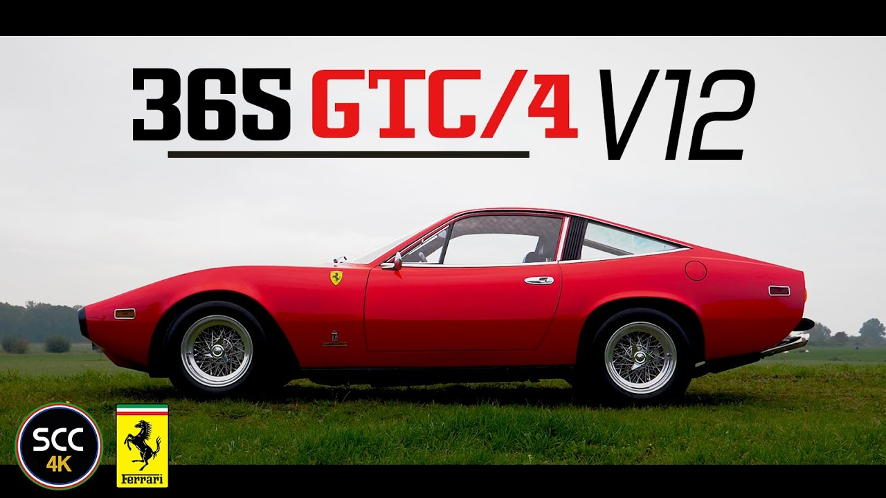 Ferrari 365 Gtc 4 4k Gtc4 1972 Test Drive In Top Gear With V12 Engine Sound Scc Tv Youtube