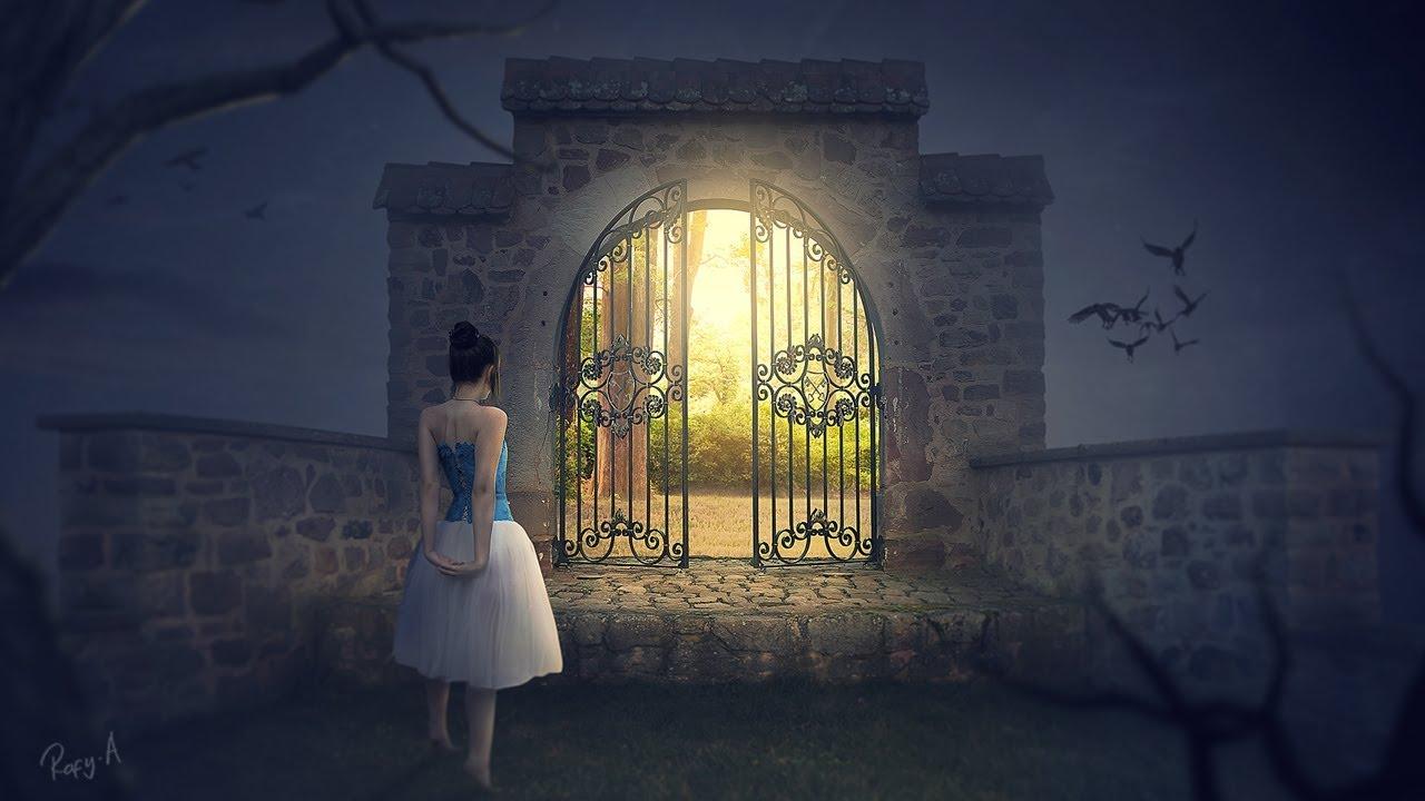 fantasy gate - photoshop manipulation tutorial