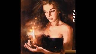 Женщина Зима красивое романтическое видео