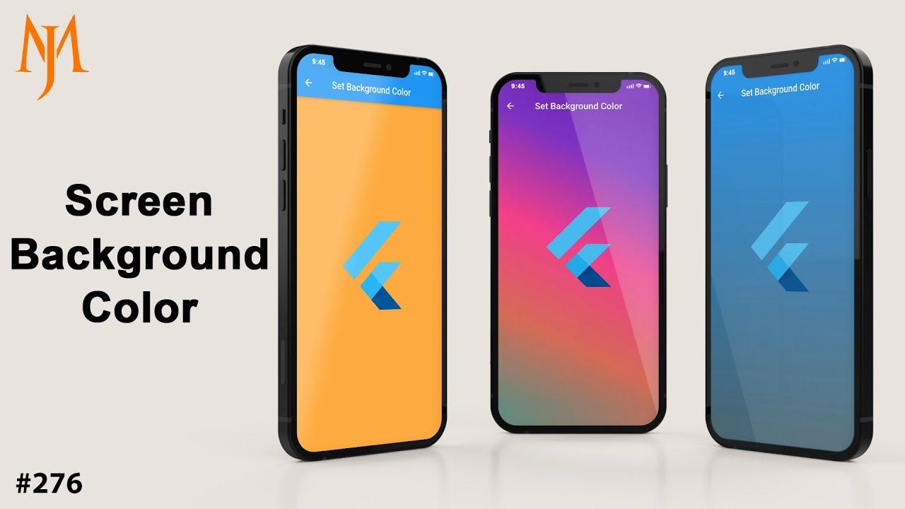Flutter Tutorial - Set Screen Background Color In 7 Minutes: Color Hex, Background Color Gradient