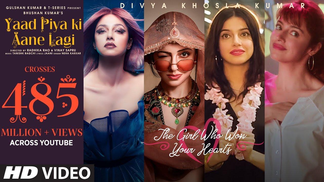 Yaad Piya Ki Aane Lagi | Divya Khosla Kumar |Neha K,Tanishk B,Jaani, Faisu, Radhika&Vinay |Bhush