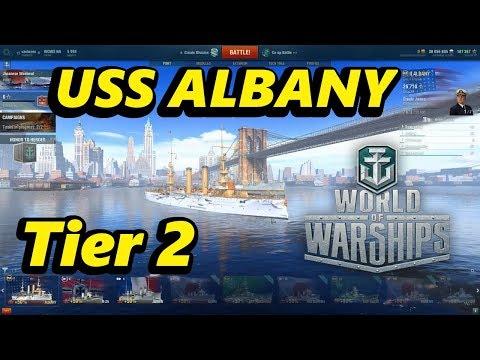 World of Warships - PC - USS Albany Tier 2 reward ship