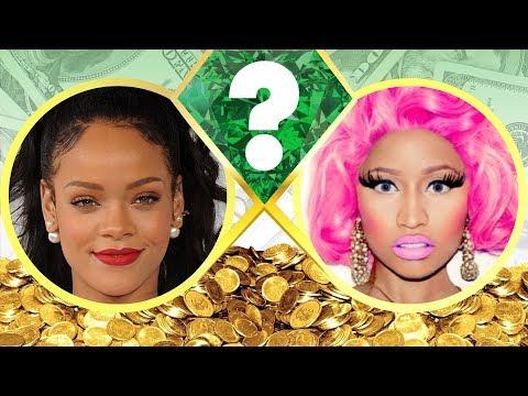 WHO'S RICHER? - Rihanna or Nicki Minaj? - Net Worth Revealed! (2017)
