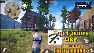 Top 4 Offline games like pubg!MUST WATCH