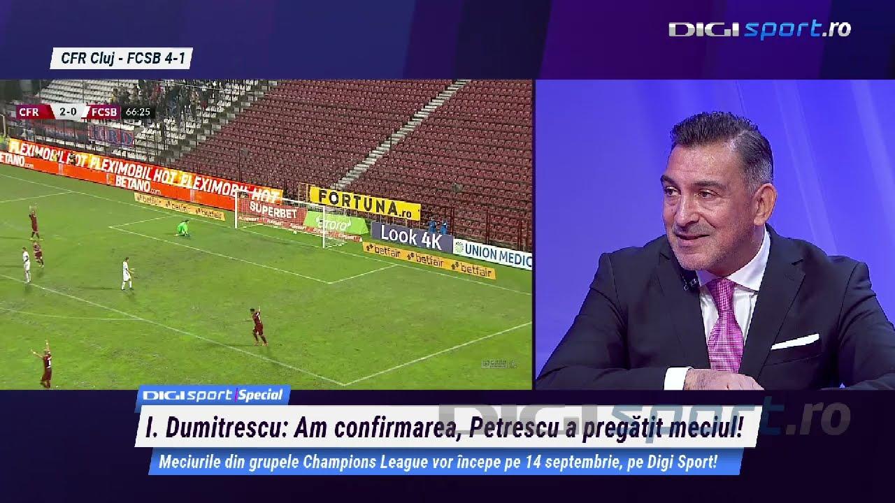 CFR Cluj - FCSB 4-1. Reacții la Digi Sport Special, cu Ilie Dumitrescu și Narcis Răducan