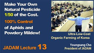 JADAM Lecture Part 13.  Make Your Own Natural Pesticide 1/50 of the Cost. 100% Control of Aphid