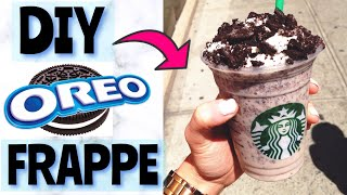HOW TO MAKE STARBUCKS OREO FRAPPUCCINO! Starbucks Secret Menu | DIY Starbucks Frappuccino No Coffee🥤