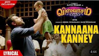 Kannana Kanne (Sid Sriram) - Viswasam | lyrical Song | AjithKumar | Nayanthara | Siva | 2019