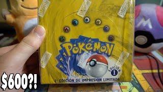 $600 POKEMON BOOSTER BOX OPENING?!? w/ KARLA - The Original Pokemon Cards!