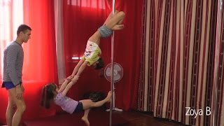 pole dance Kids - парні номери, павук,шпагат