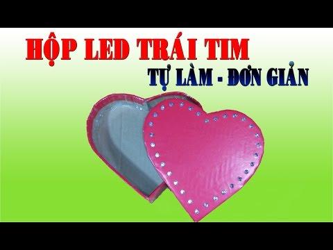 Hướng Dẫn Cách Làm HỘP LED TRÁI TIM 32 led đơn giản cực đẹp