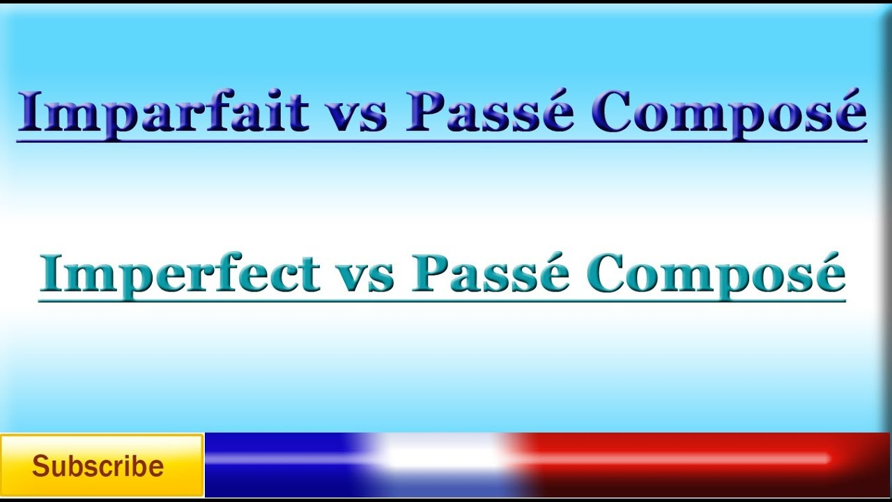 When to use imperfect, reflexive & passe compose?