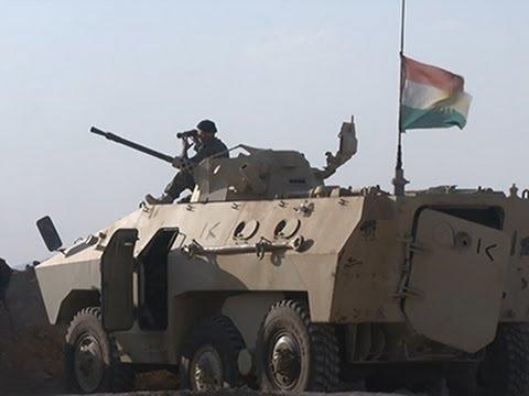 Raw: Kurish Forces, IS Militants Clash in Iraq