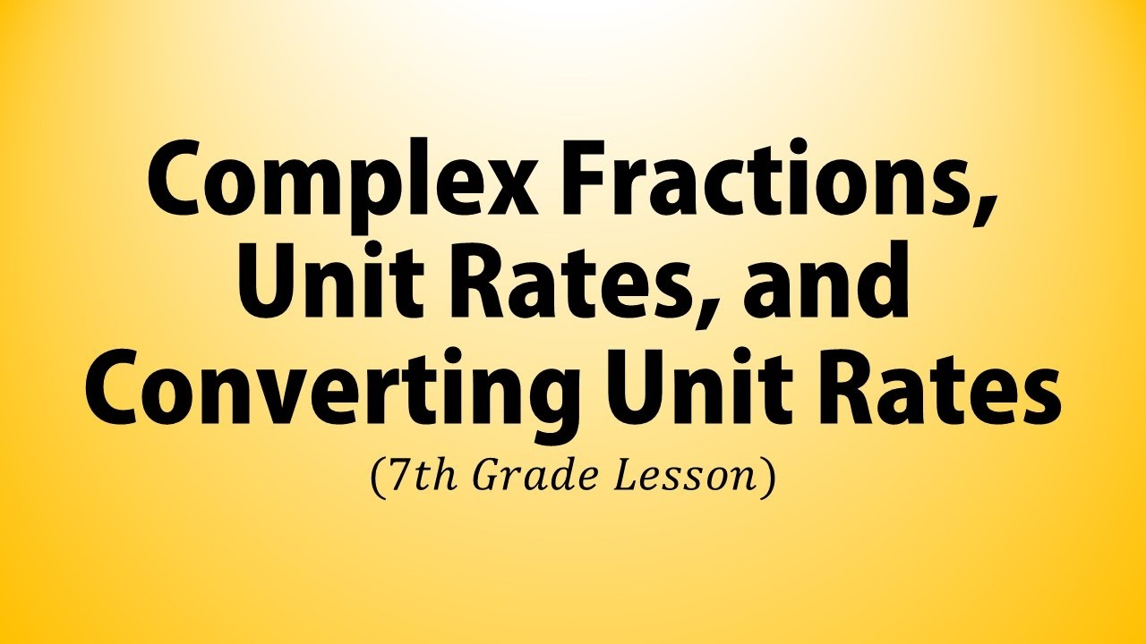 small resolution of Complex Fractions