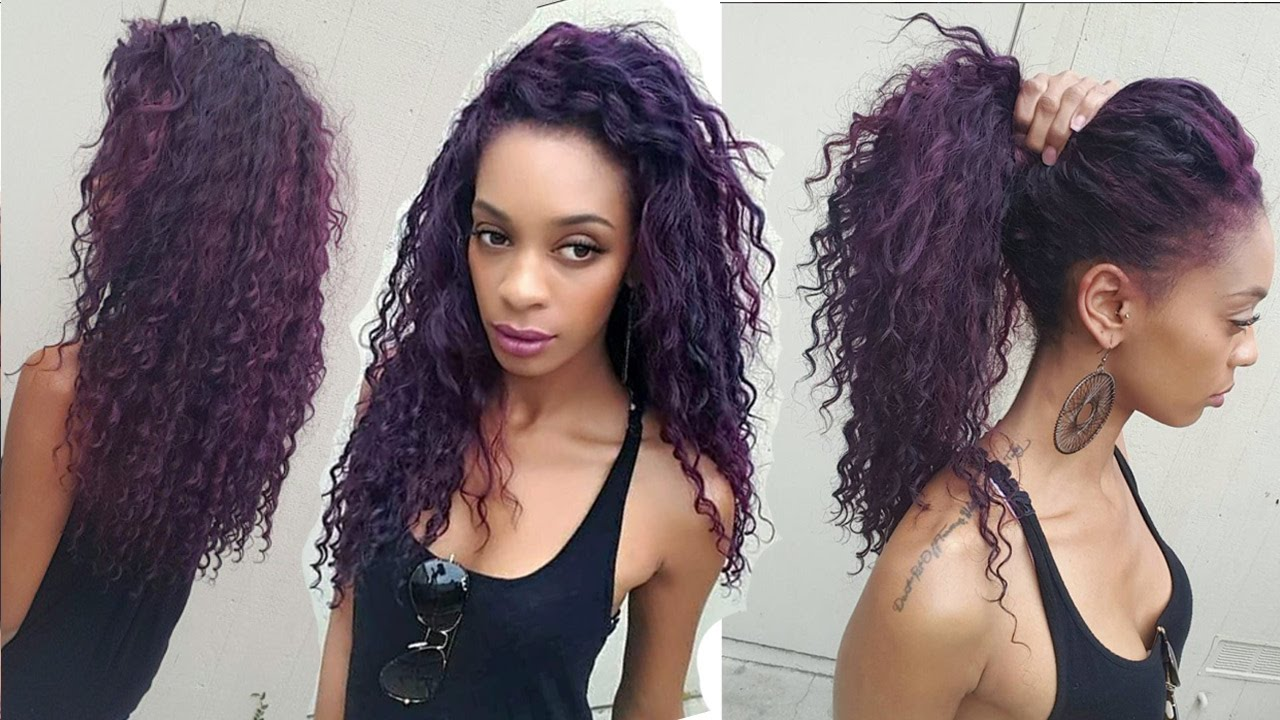 How To Blend Your Leave Out With Deep Wave Curly Hair Mayvenn Hair