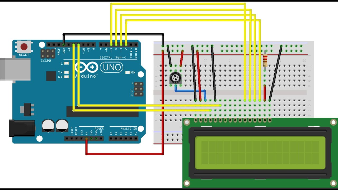 5 pin relay wiring diagram light bar 4age arduino - display lcd 16x2 #05 automação youtube