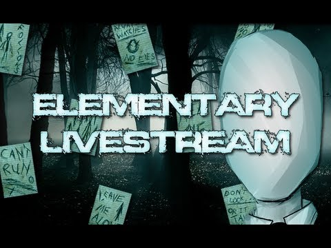 Nawghty Horror - Elementary Livestream Slender - Gameplays And Photoshop Map Making!