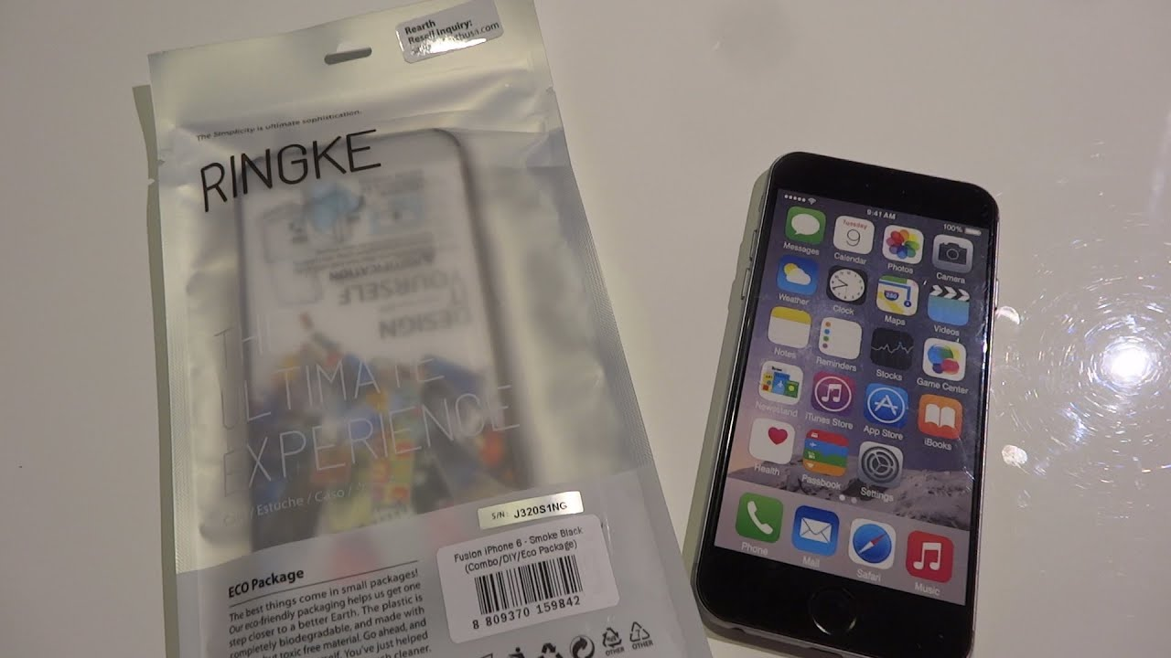 newest collection 1f0d0 ba3b6 Iphone 6 Schutzhülle - Ringke Fusion Smoke Black